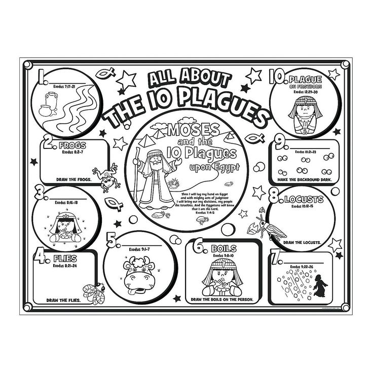 10 commandments coloring pages - moses bible crafts