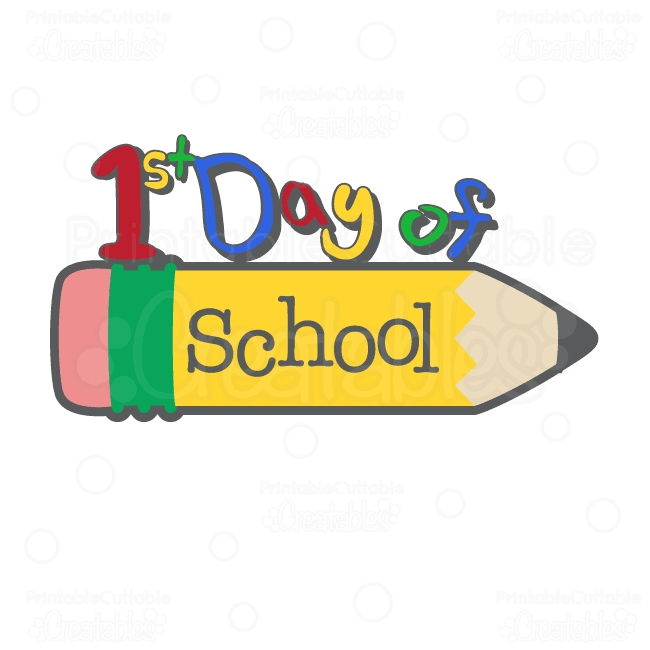 100th day coloring pages - first day of school clip art