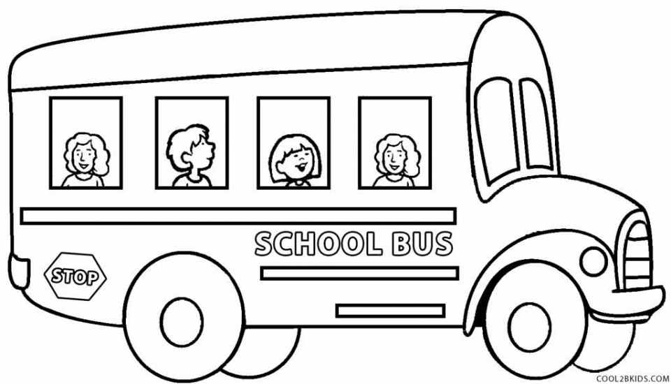 100th day coloring pages - free school bus coloring pages 2srxq