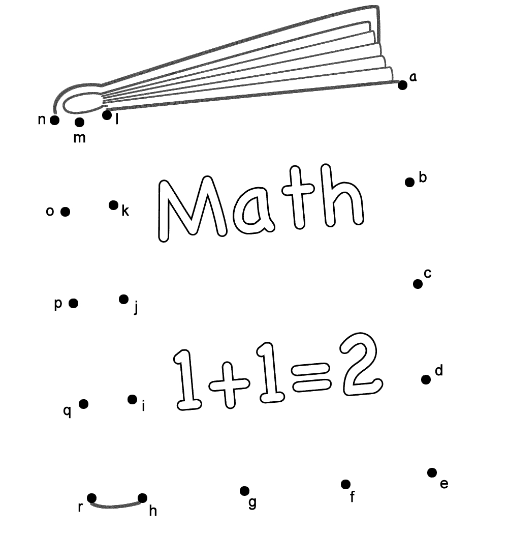 100th day coloring pages - book math5