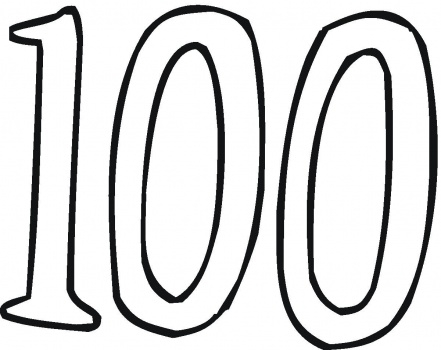 100th Day Coloring Pages - the 100 Challenge