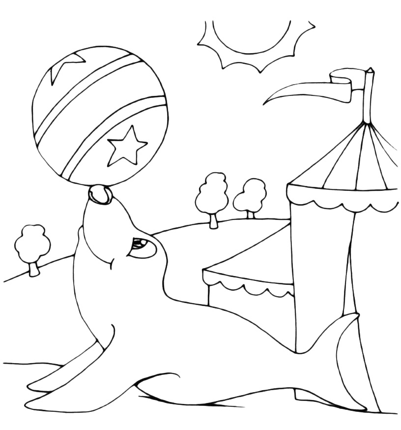 2017 coloring pages - foca da circo 001