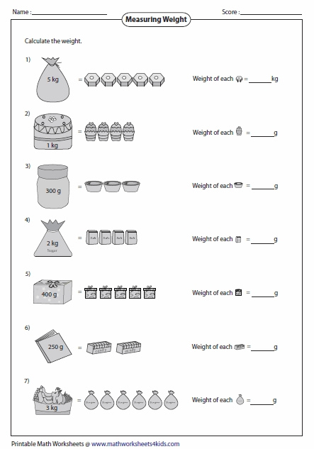 3rd grade coloring pages - weight