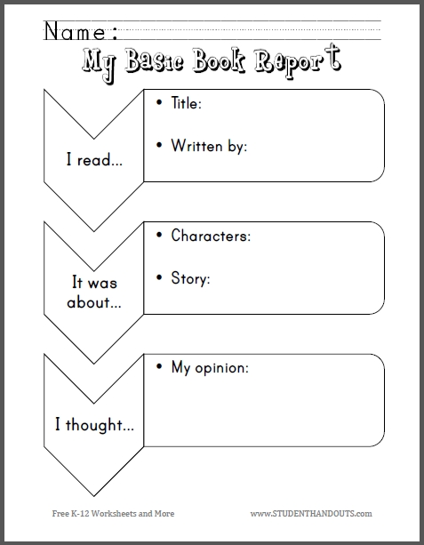 4th grade coloring pages - my basic book report primary