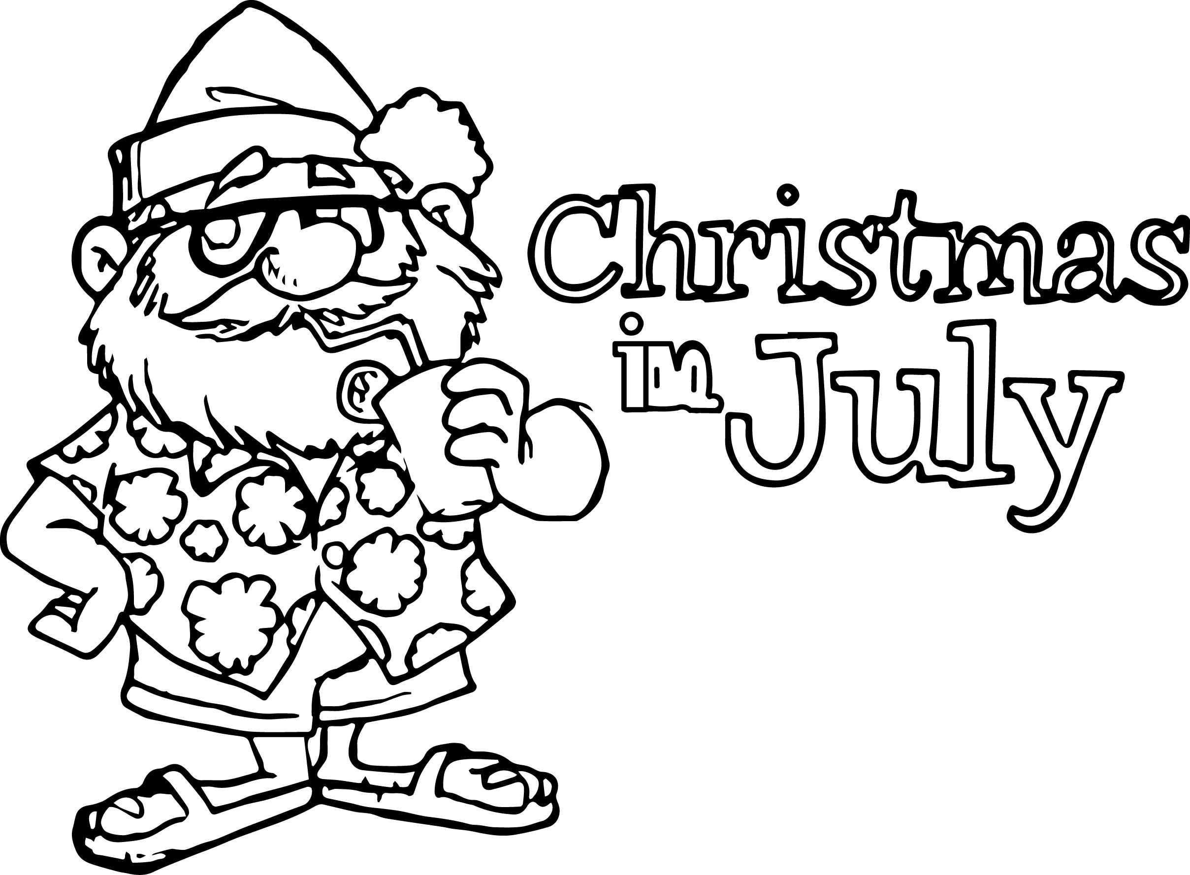 4th of july coloring pages - 4th july christmas july coloring page