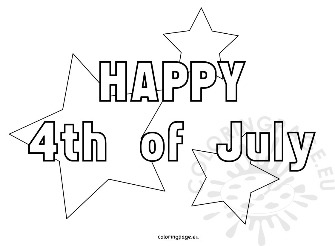 4th of july coloring pages - 4th july coloring pages with stars
