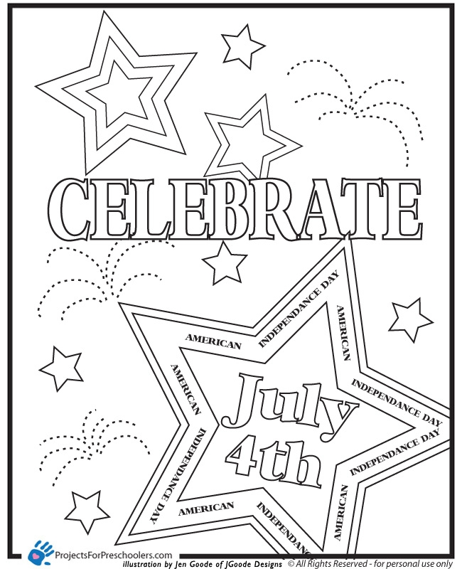 4th of july coloring pages - 4th of July