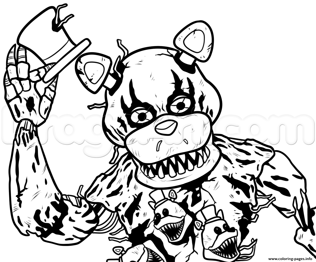 25 5 Nights at Freddy's Coloring Pages Pictures | FREE ...