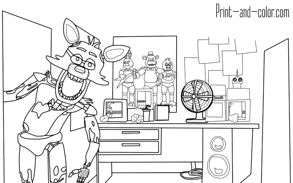 5 nights at freddy's coloring pages - 2