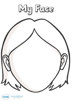 5 senses coloring pages - Blank Face Templates with Face Parts