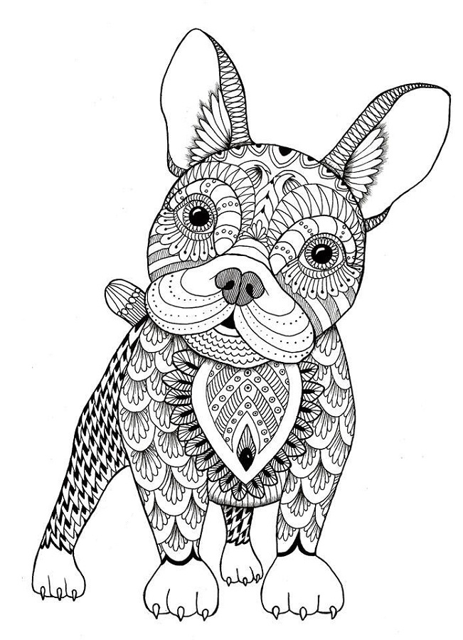 5th grade coloring pages - dog coloring pages for adults