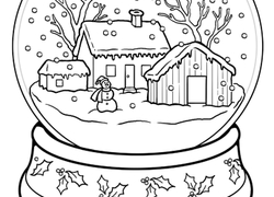 5th grade coloring pages - winter fun