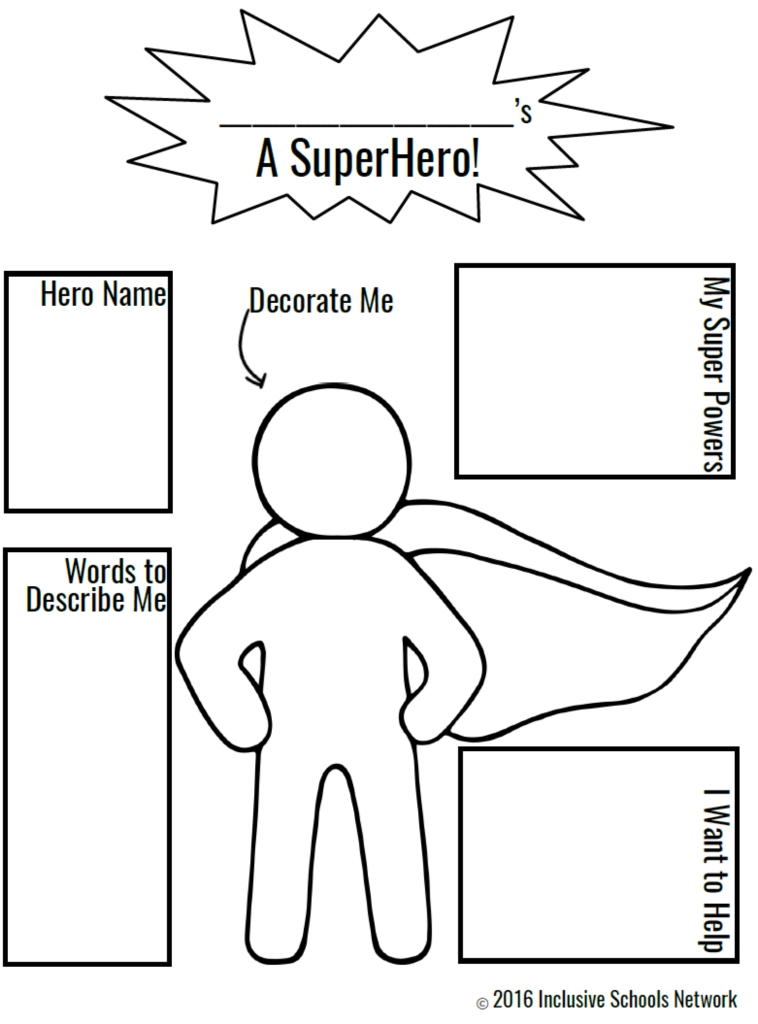 Colorful Create Your Own Superhero Coloring Page Ornament - Coloring ...