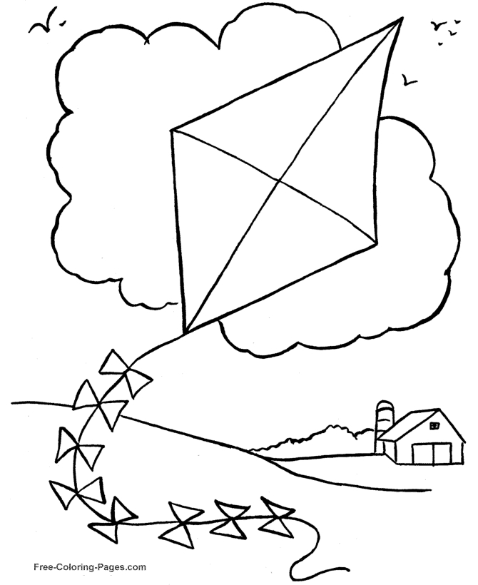a coloring page - spring 12
