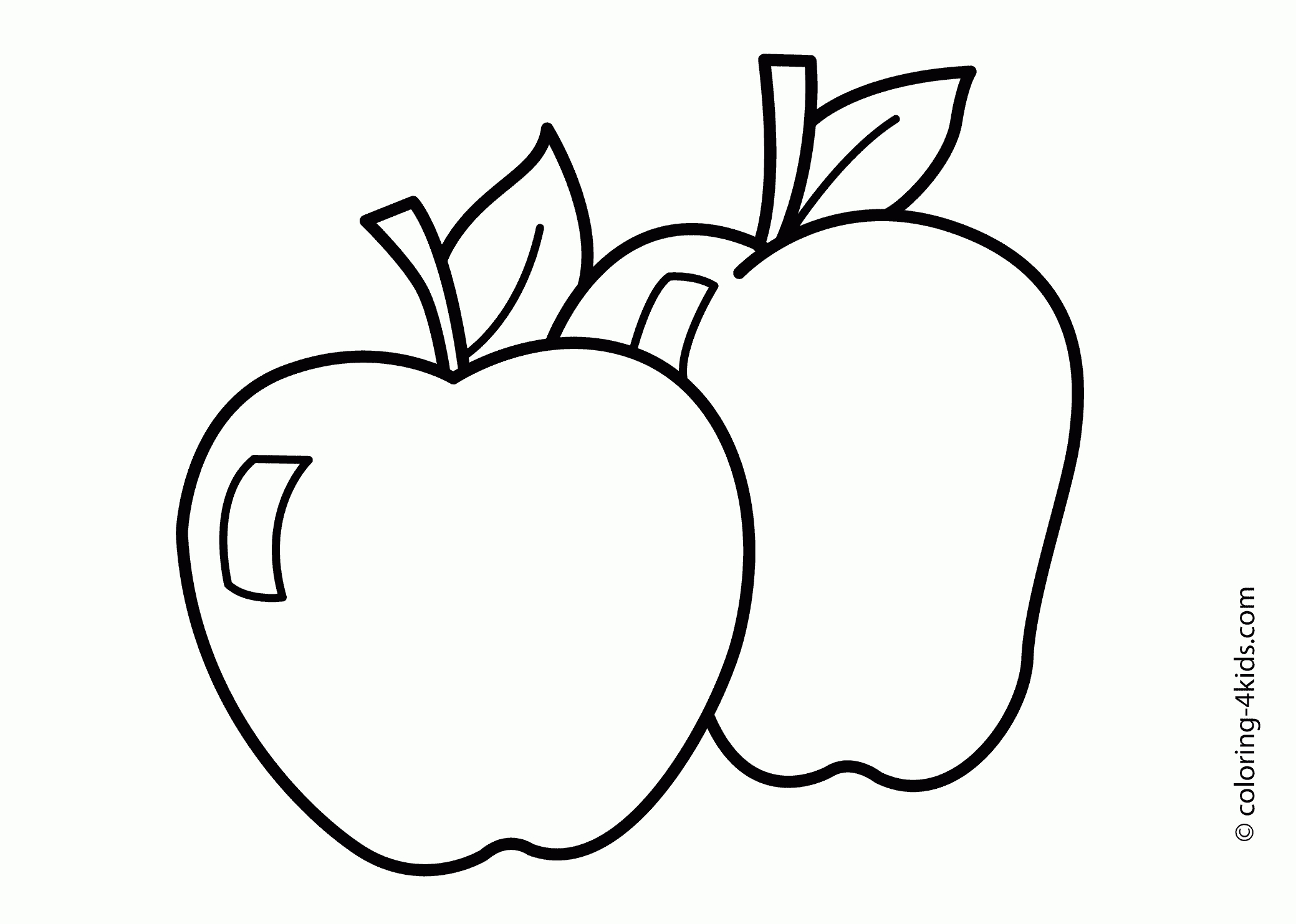 a is for apple coloring page - apple picture to color coloring apple coloring pages for preschoolers