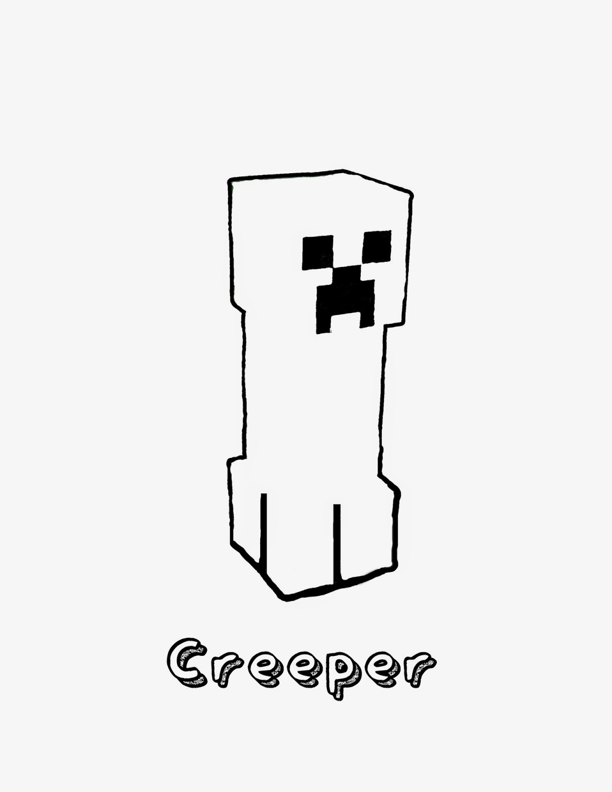 a is for apple coloring page - minecraft creeper black and white black and white minecraft creeper clipart clipartfest