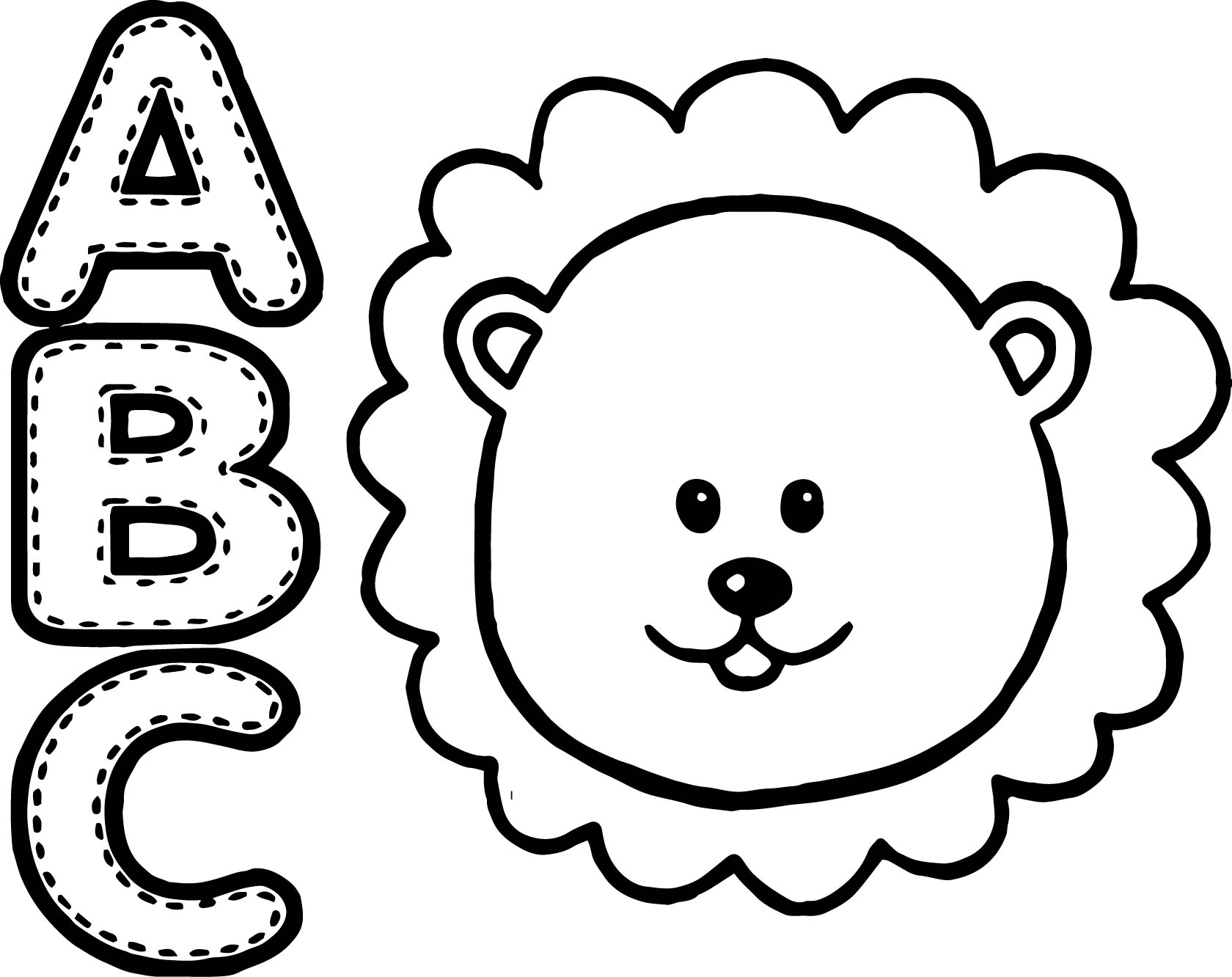 Abc Coloring Pages - abc animal lion coloring page