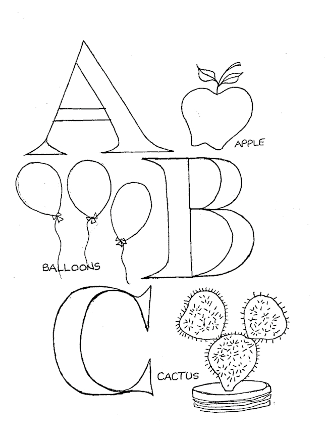 Abc Coloring Pages - abc coloring pages