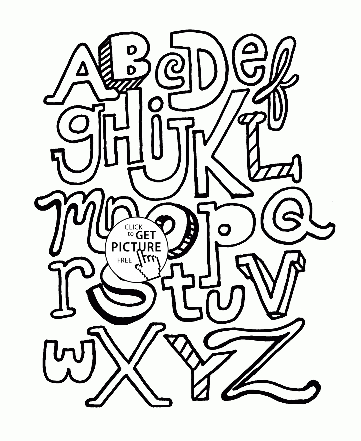 Abc Coloring Pages - alphabet coloring pages for kids abc letters printables free