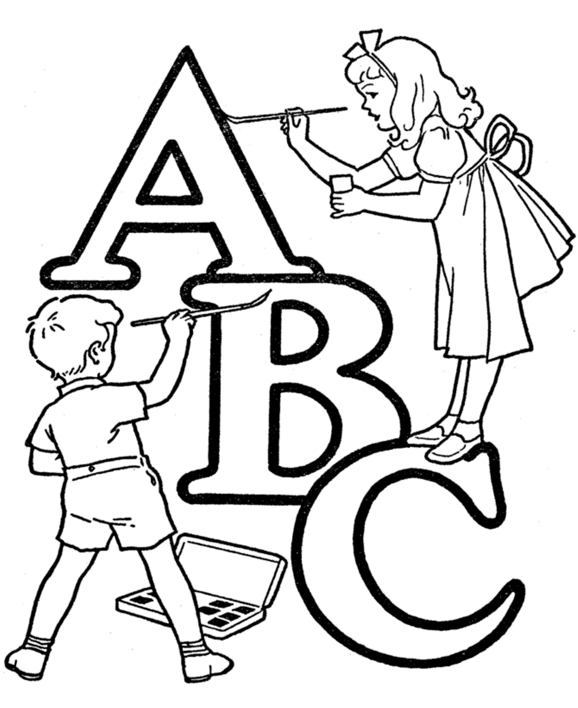 24 Abc Coloring Pages Compilation