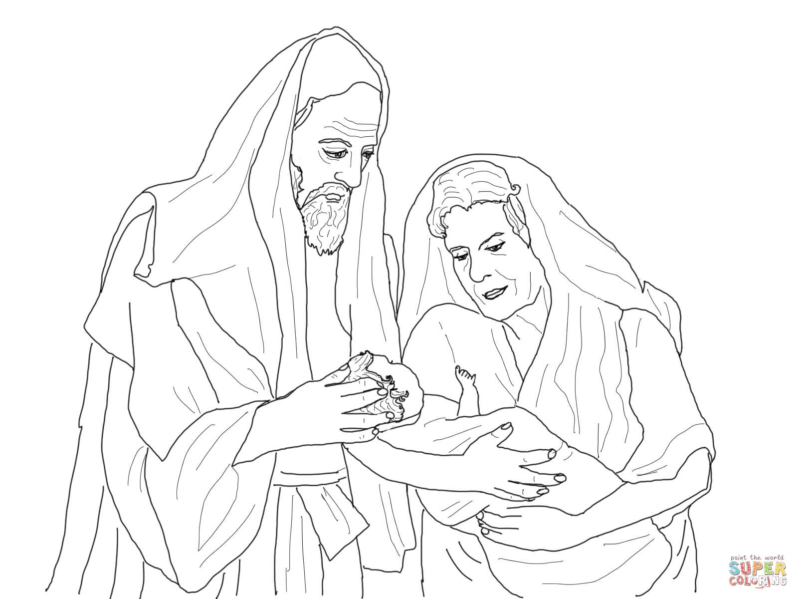 abraham and sarah coloring pages - abraham and sarah with isaac