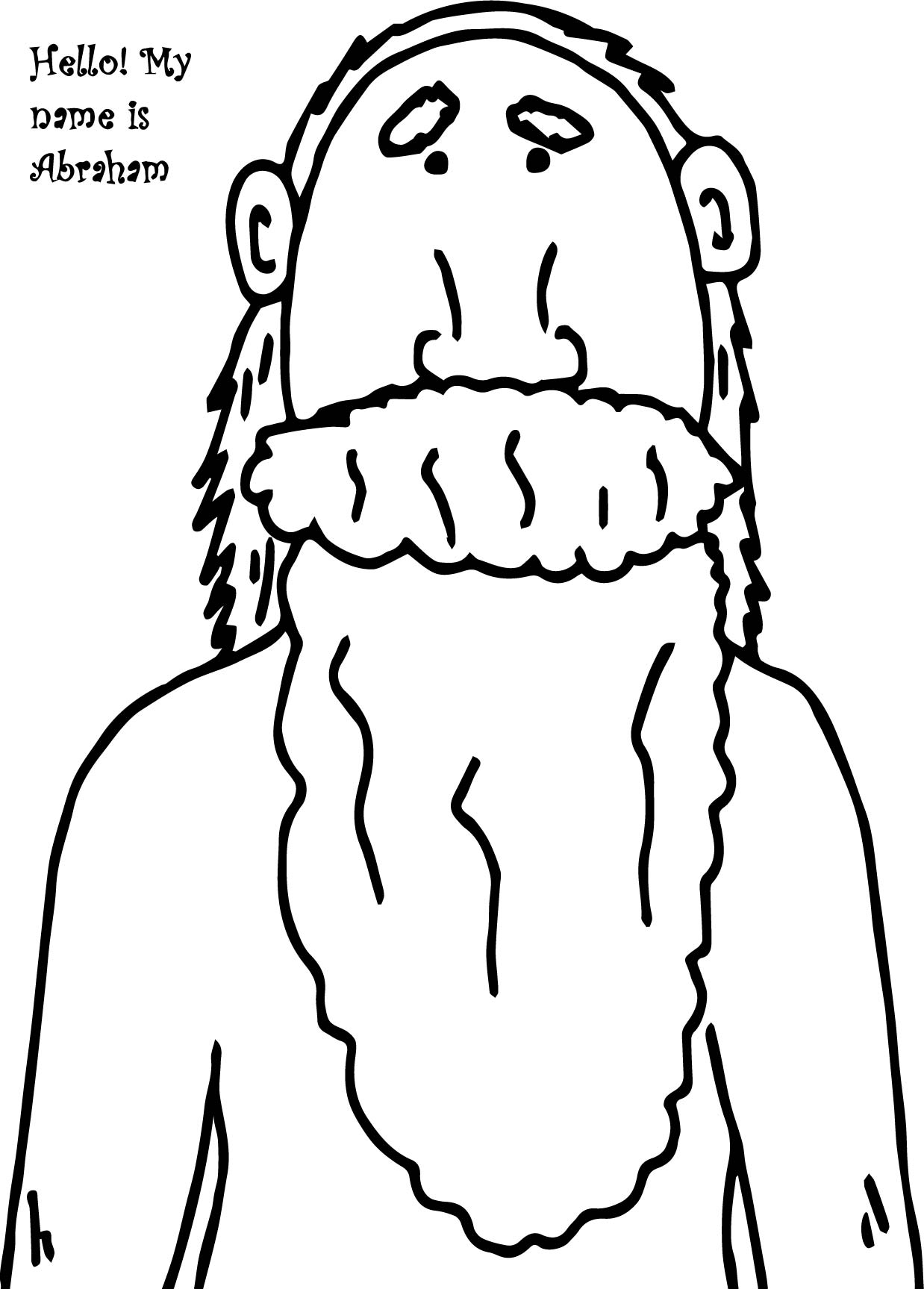 abraham and sarah coloring pages - hello name abraham sarah coloring page