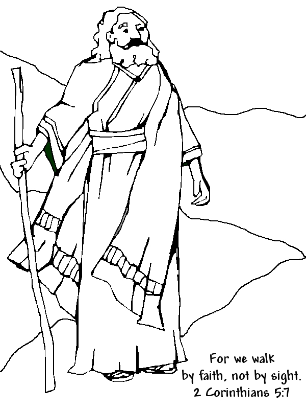 abraham coloring pages - bible story abraham coloring pages for