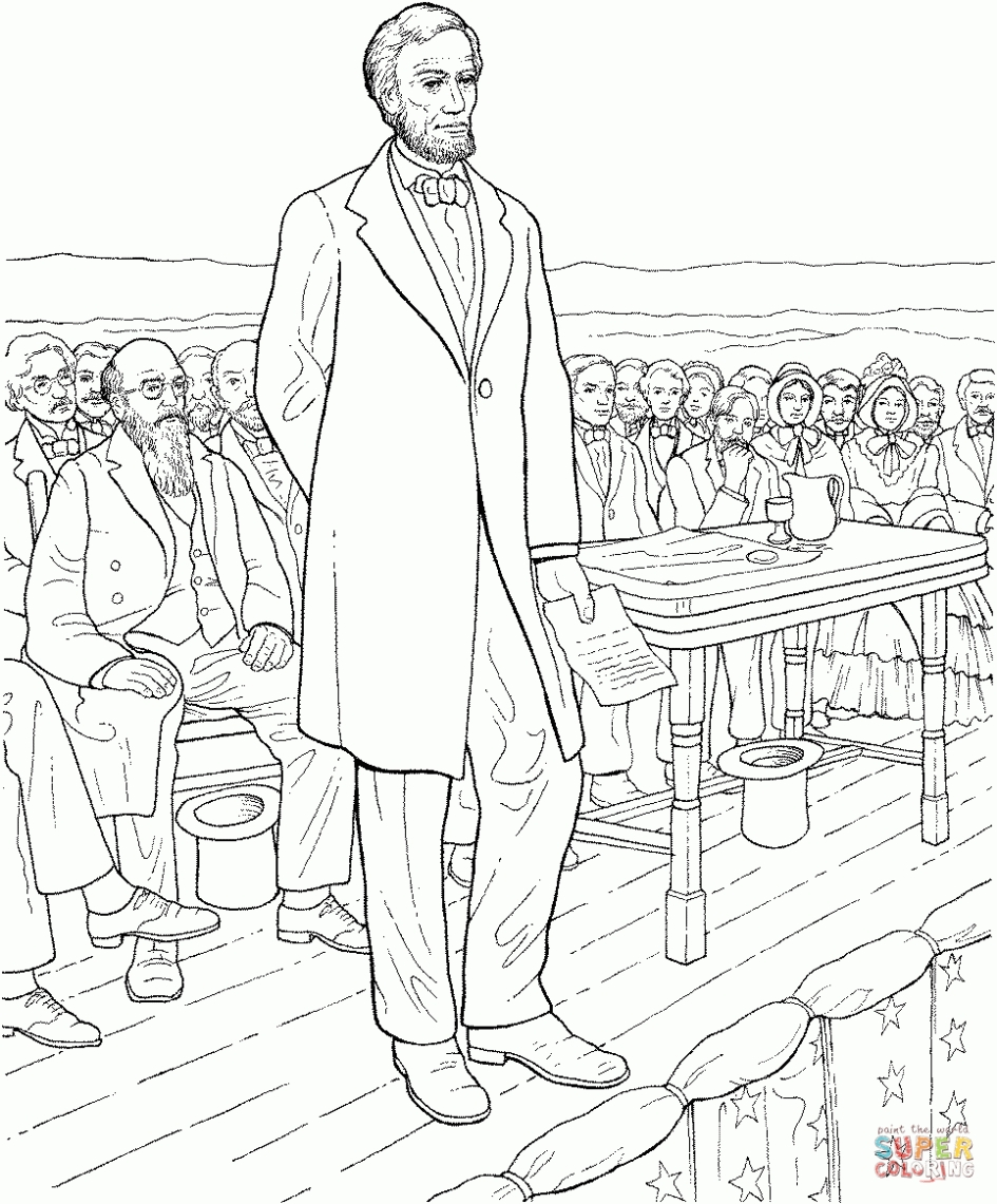 Abraham Coloring Pages - Download Coloring Pages Abraham Lincoln Coloring Page