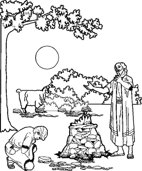Abraham coloring pages isaac abraham and lot coloring page sketch templates