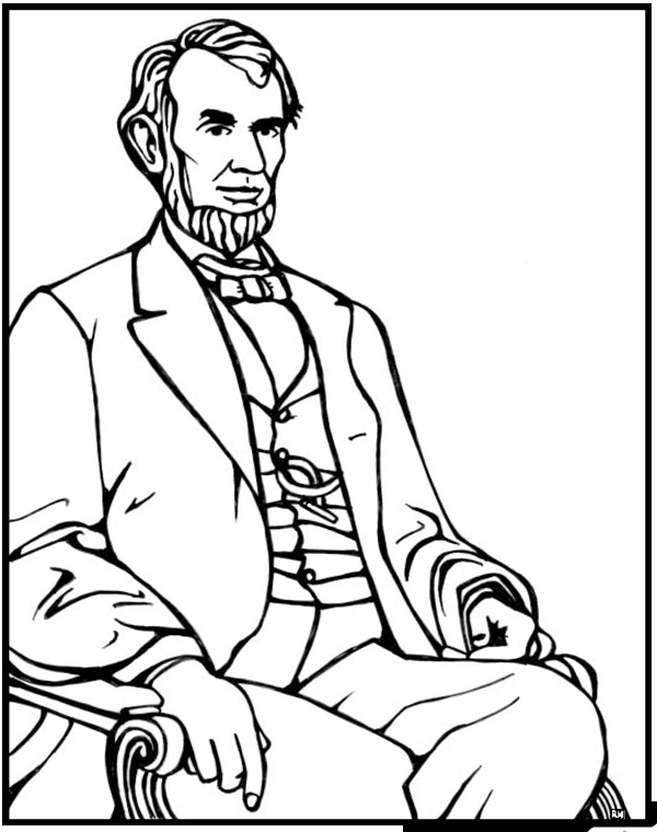 Abraham Lincoln Coloring Page - Abraham Lincoln Coloring Page