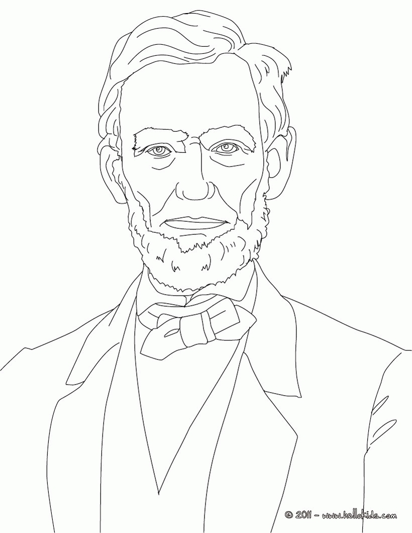24 Abraham Lincoln Coloring Page Selection FREE COLORING PAGES