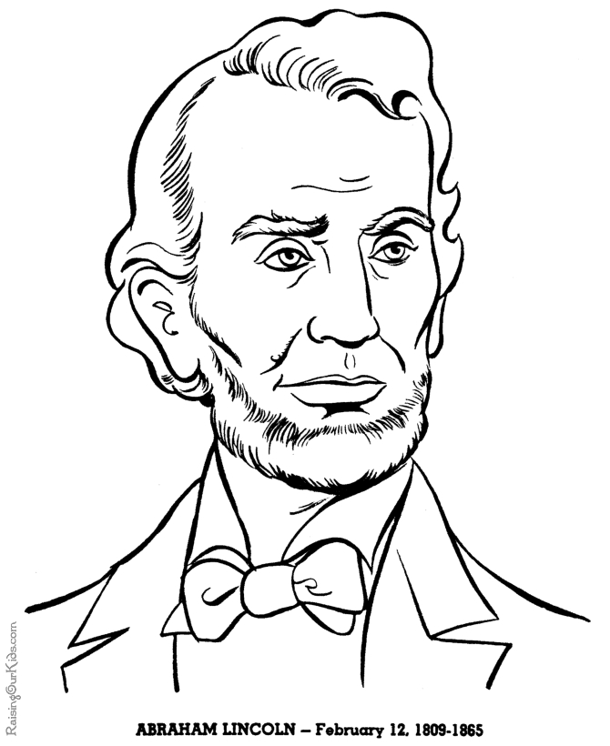 abraham lincoln coloring page - abraham lincoln coloring pages