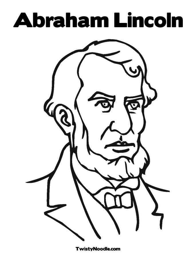abraham lincoln coloring page - abraham lincoln