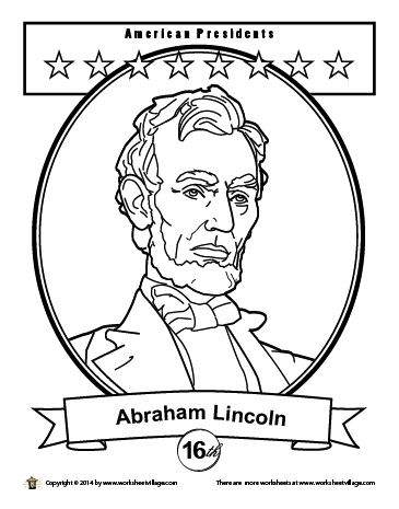abraham lincoln coloring page - lincoln seated coloring page wsv