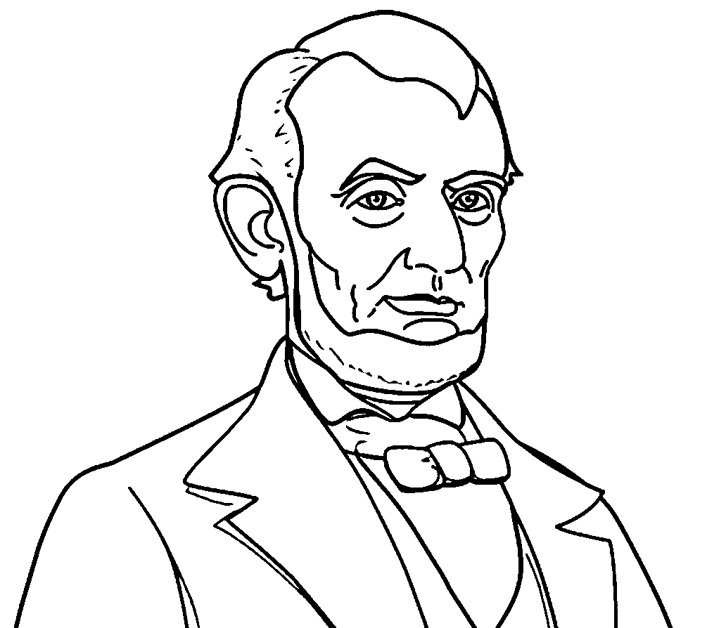 abraham lincoln coloring page - abraham lincoln president abe coloring pages