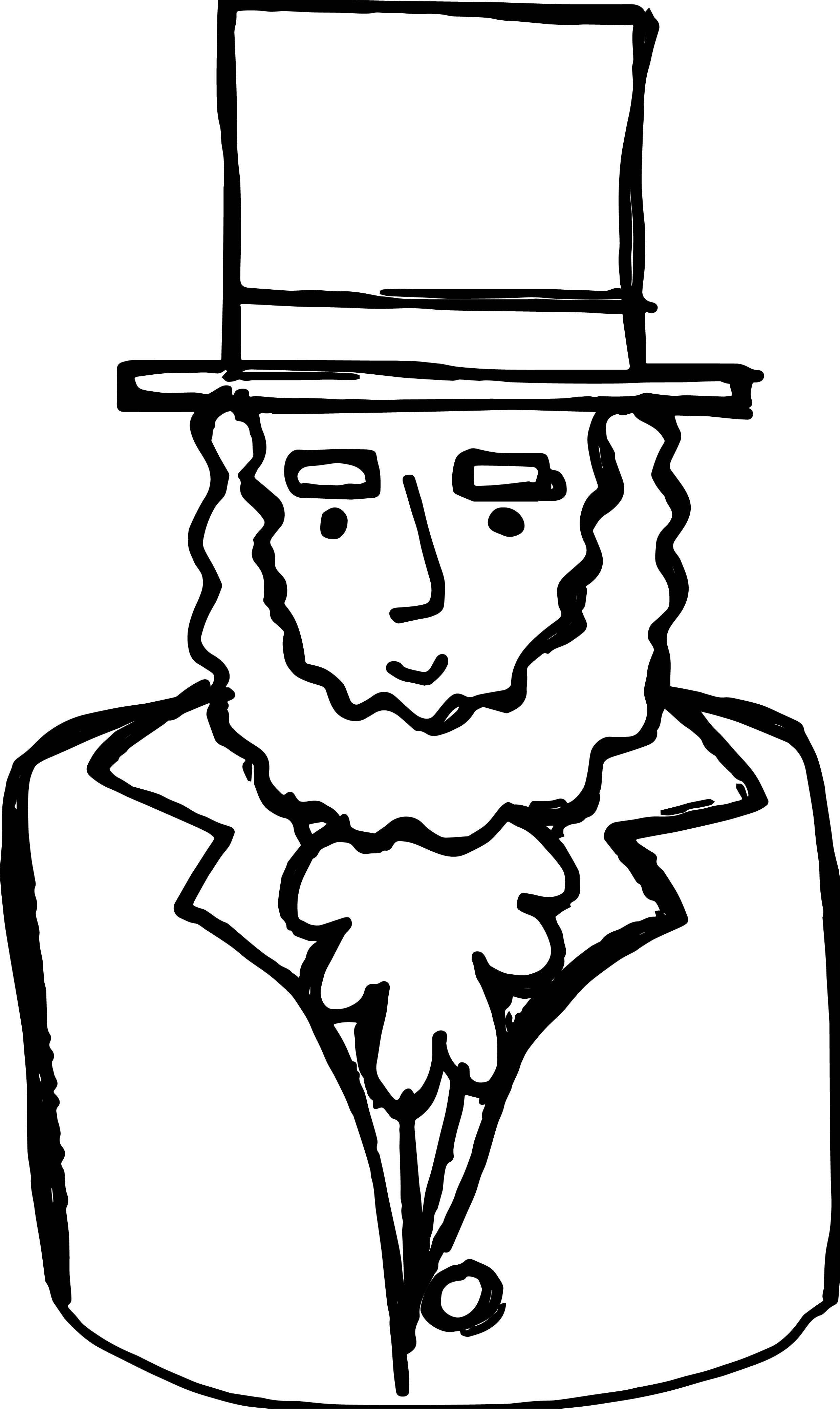 abraham lincoln coloring page - abraham lincoln president coloring page