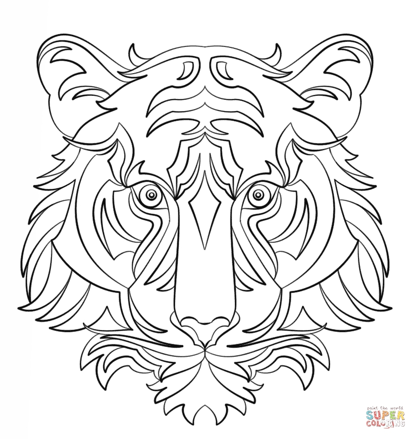 abstract coloring pages - abstract animal coloring pages