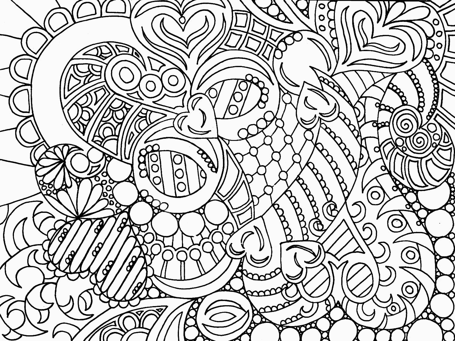 abstract coloring pages - abstract art hd coloring pages for adult