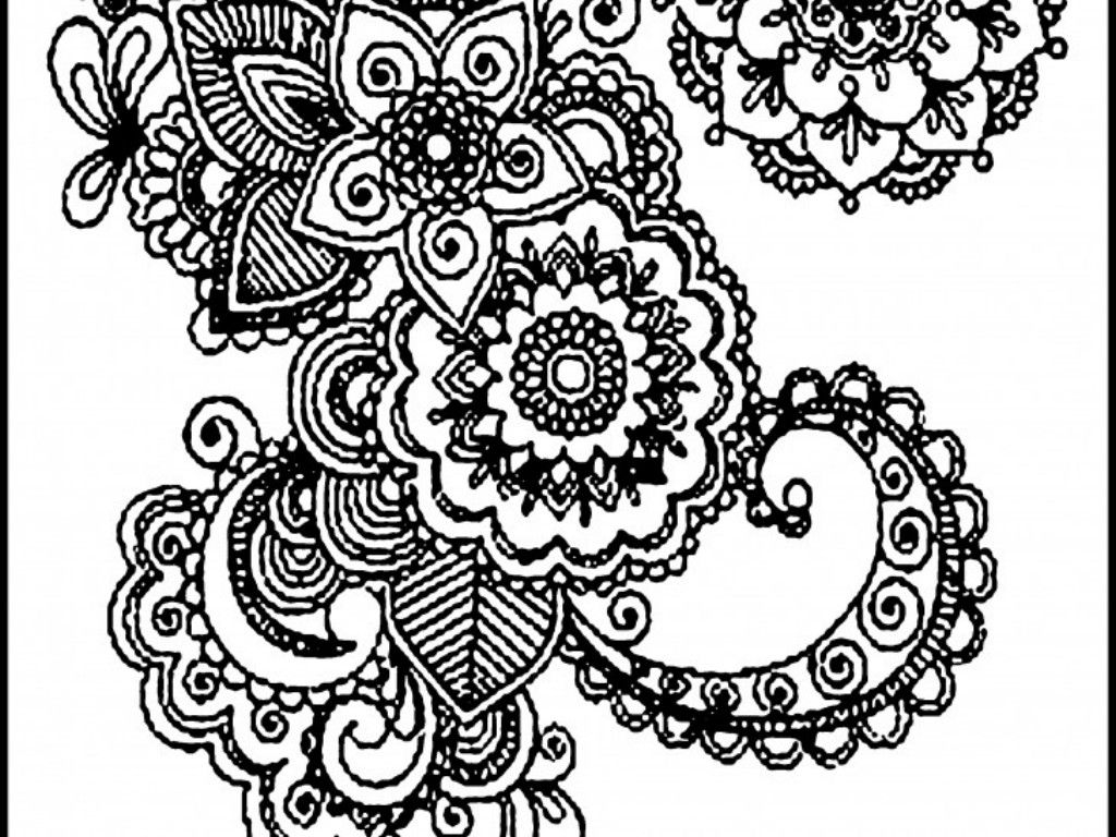 abstract coloring pages - abstract cat printable coloring page