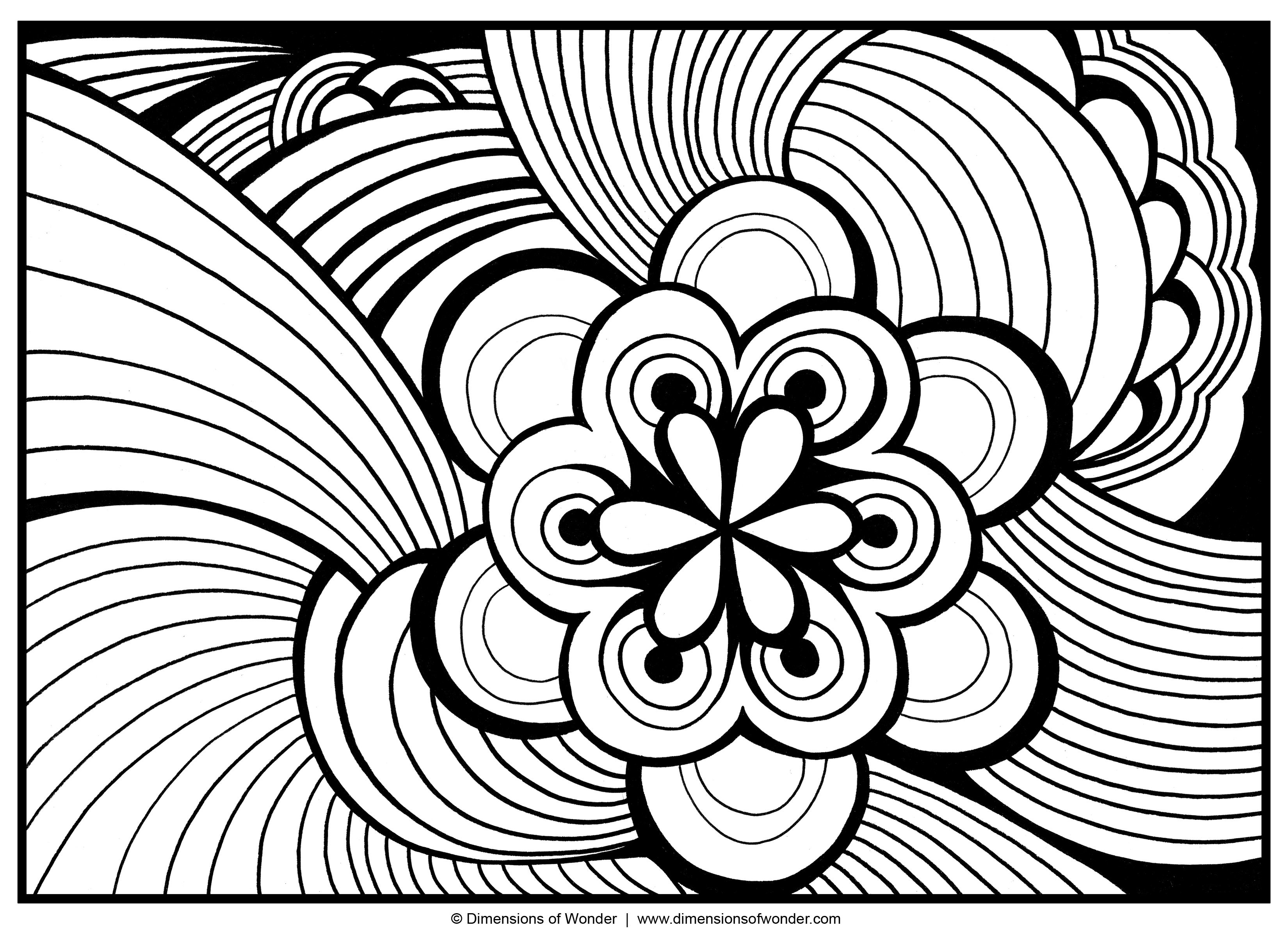 Abstract Coloring Pages - Abstract Coloring Pages for Adults to Print