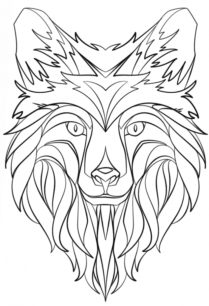 abstract coloring pages - coloring pages abstract animals