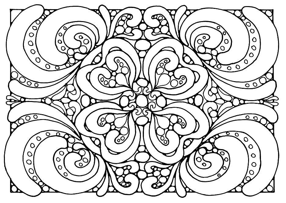 abstract coloring pages - coloring pages for adults abstract