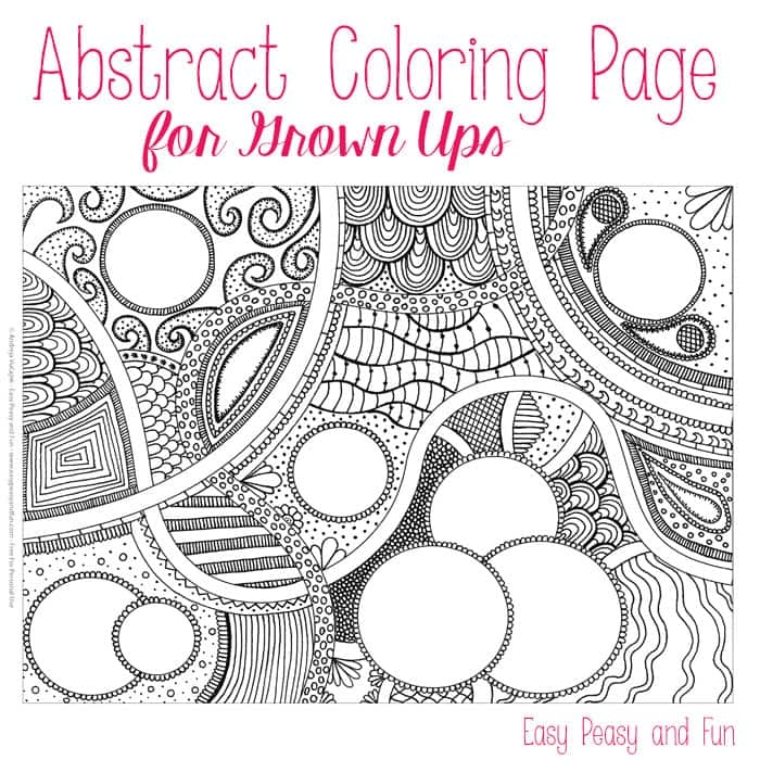 abstract coloring pages - free abstract coloring page for adults