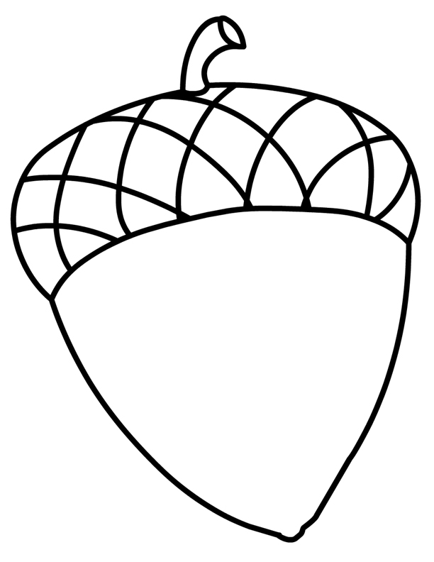 acorn coloring page - acorn coloring pages for kids