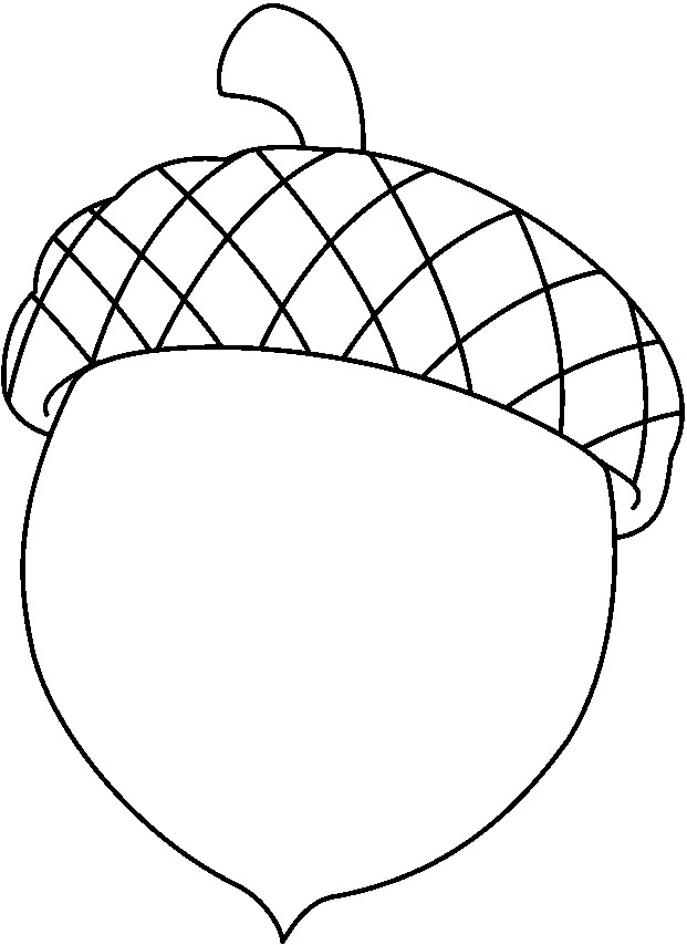 Acorn Coloring Page - Acorn Colouring Pages
