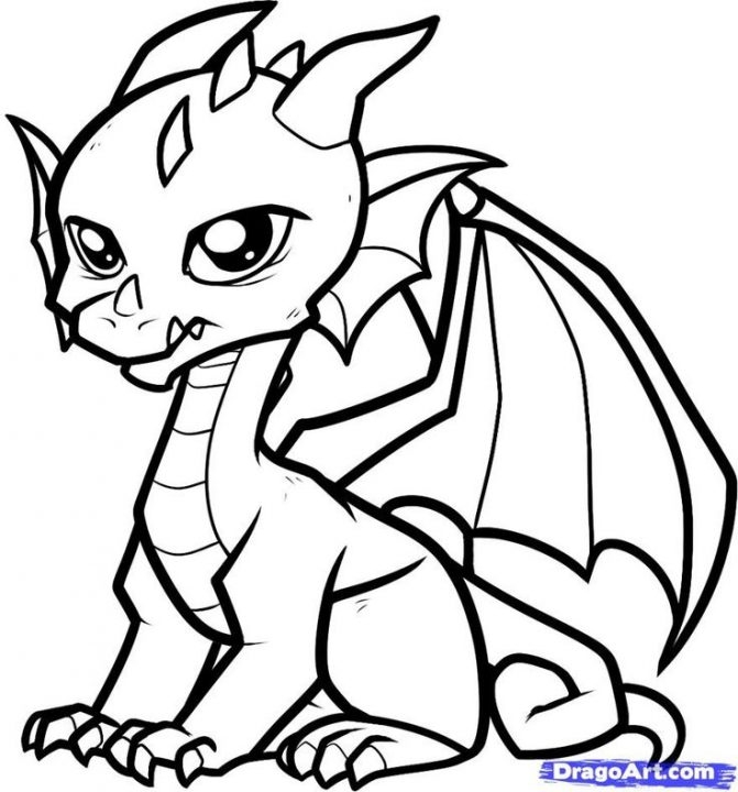 addition coloring pages - dragon cartoon drawing easy of a how to draw an step dragons coloring pages