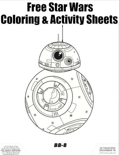addition coloring pages - star wars force awakens coloring sheets