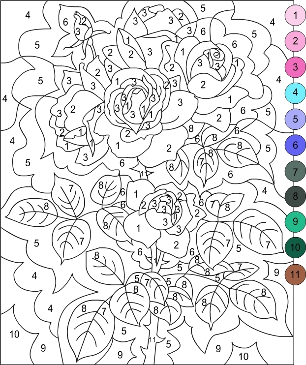 adult color by number pages - coloring nicole