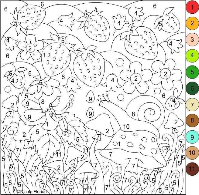 adult color by number pages -