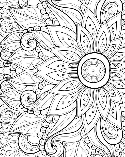 adult coloring book pages - adult coloring
